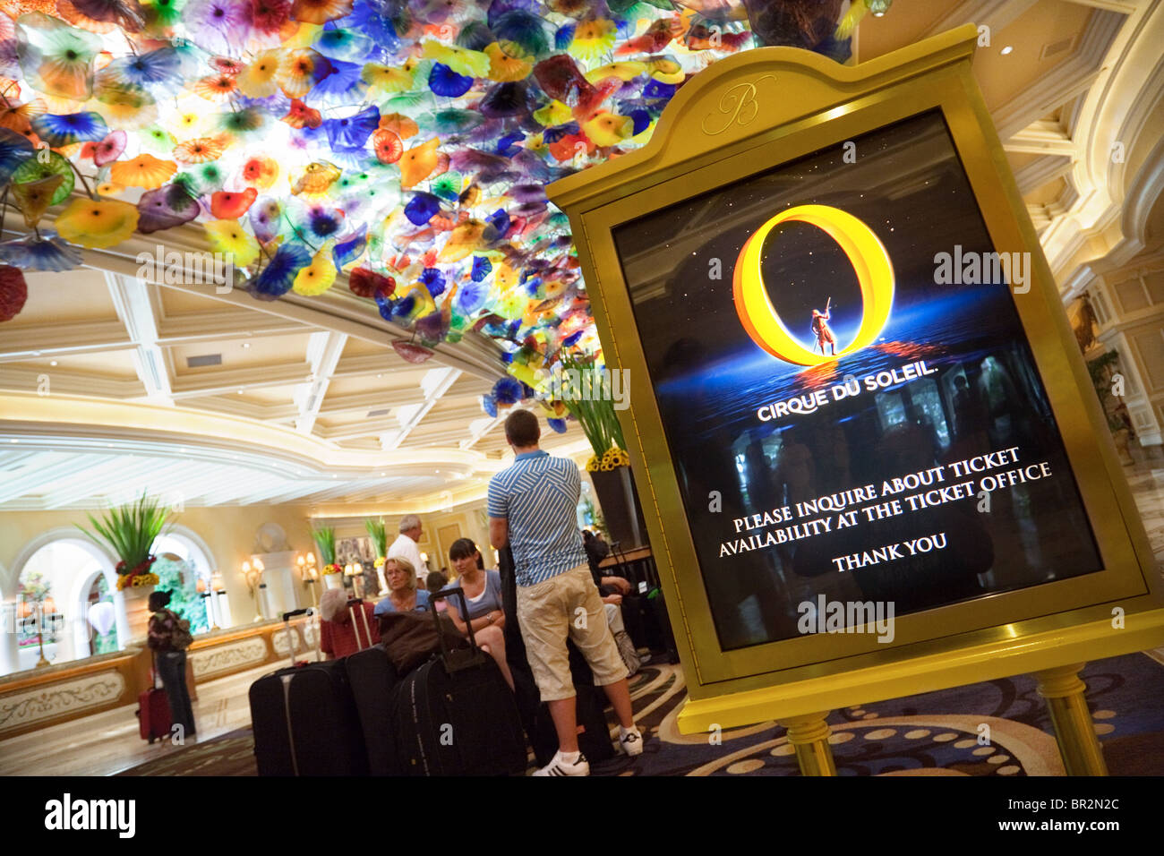 Bellagio O Show >> A Sign For The Cirque Du Soleil Show O The Lobby At The Bellagio
