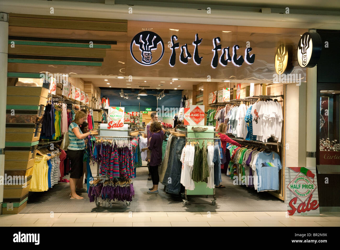 People Shopping At The Fat Face Clothes Store At South Terminal Stock Photo Alamy