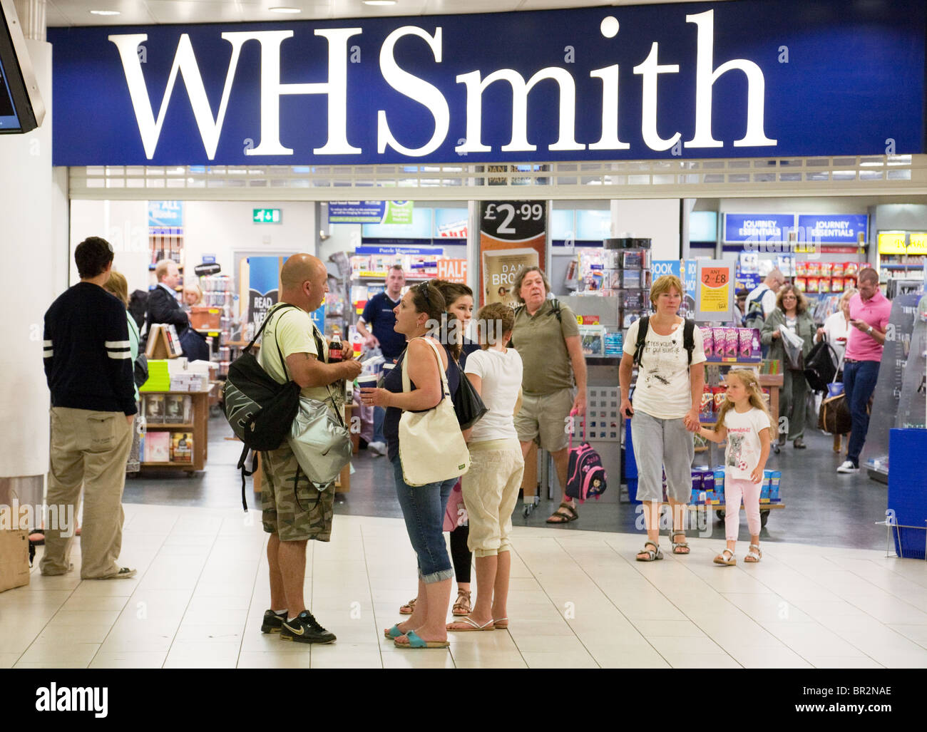 WH Smith store, Departures, South terminal, Gatwick airport, UK - Stock Image