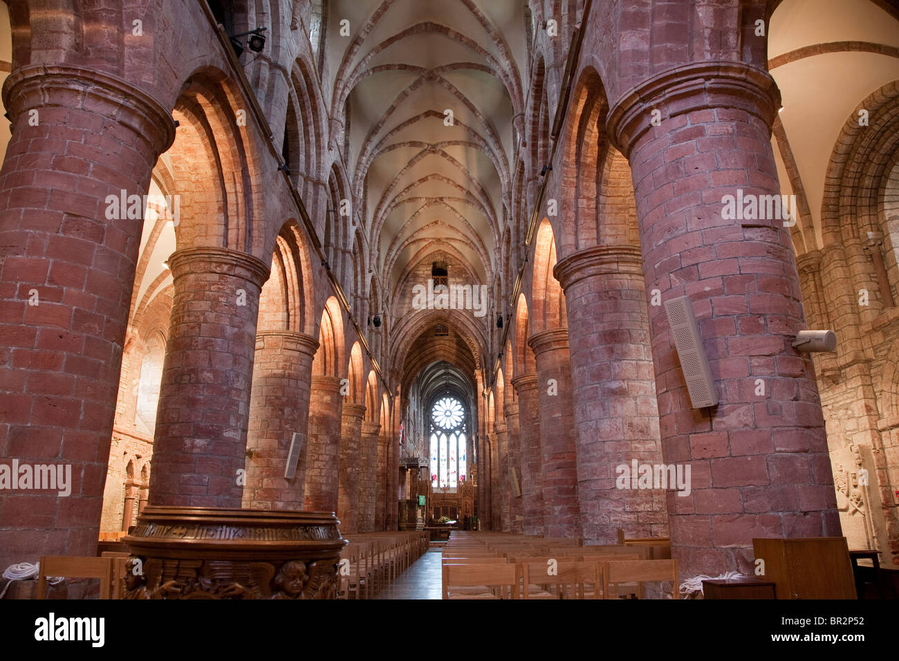 Kirkwall Cathedral on the Orkney Islands, Scotland - Stock Image
