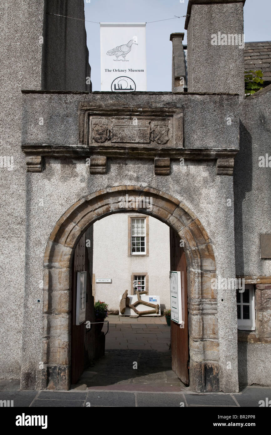 Entrance to the Orkney Museum, Kirkwall, Orkney Islands, Scotland - Stock Image