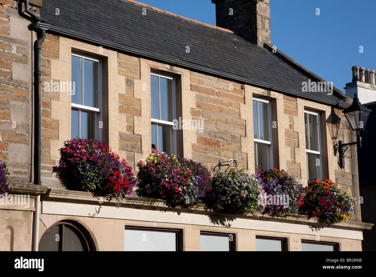 Typical Facade in Kirkwall, Orkney Islands, Scotland - Stock Image