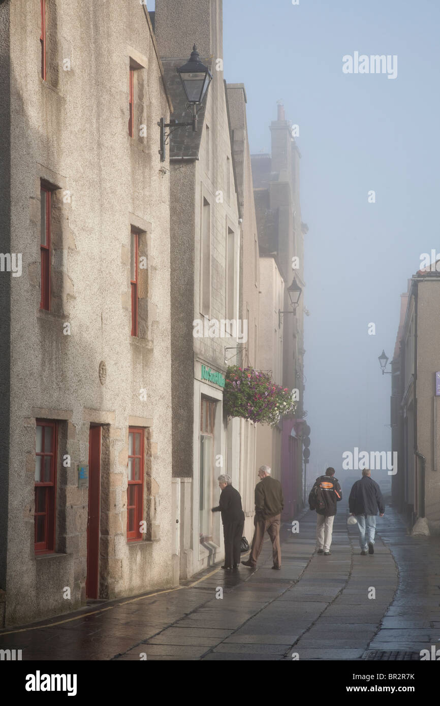 Early Morning Mist in Kirkwall, Orkney Islands, Scotland - Stock Image