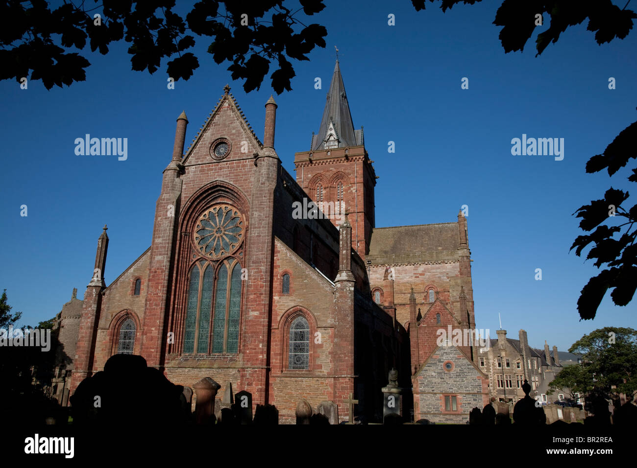 St Magnus Cathedral, Kirkwall in Orkney Islands, Scotland - Stock Image