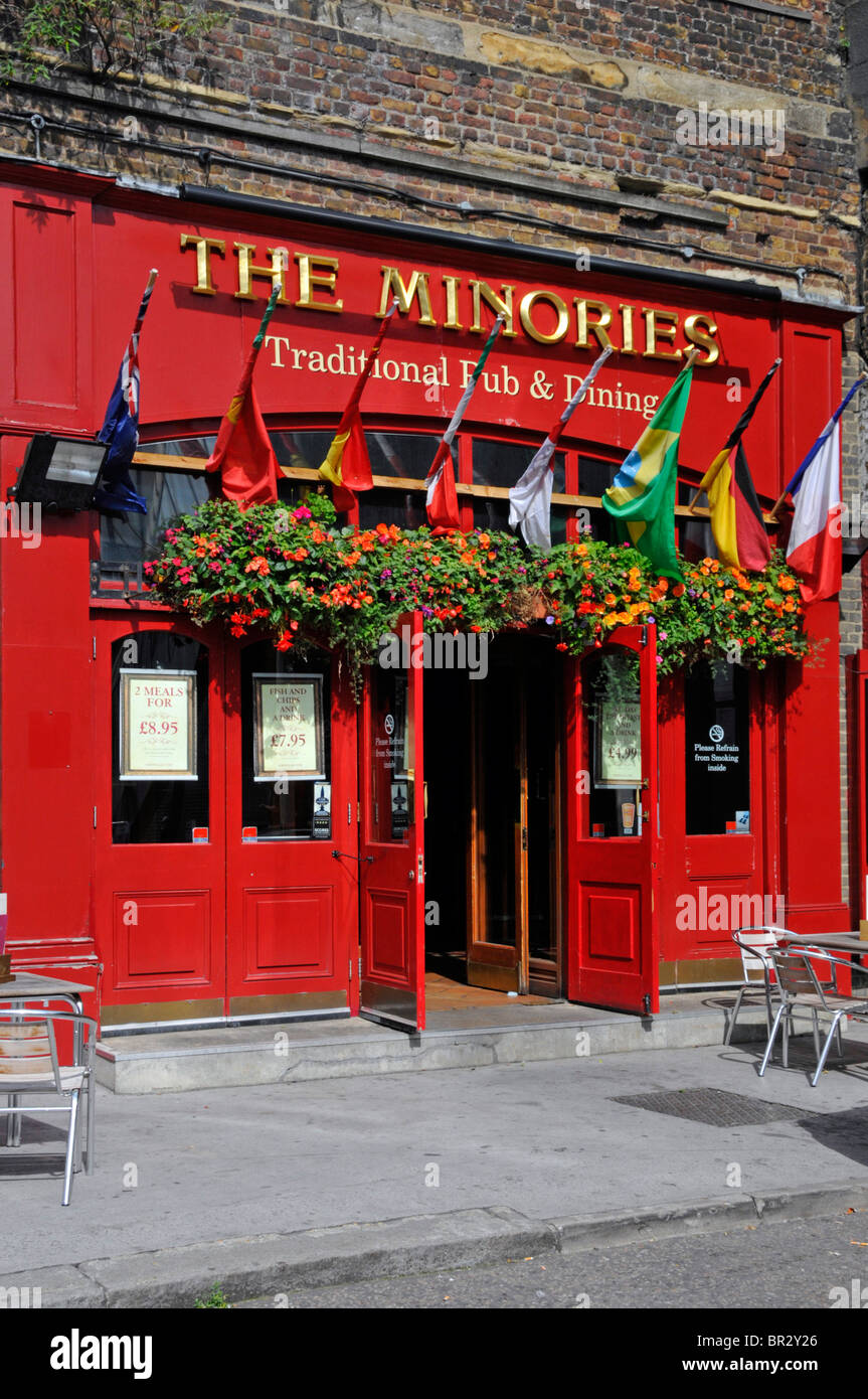 The Minories traditional London Pub close to the Tower of London - Stock Image