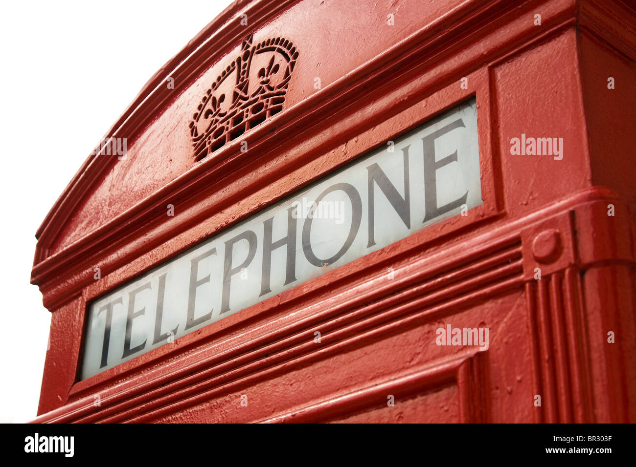 Detail of London telephone box - Stock Image