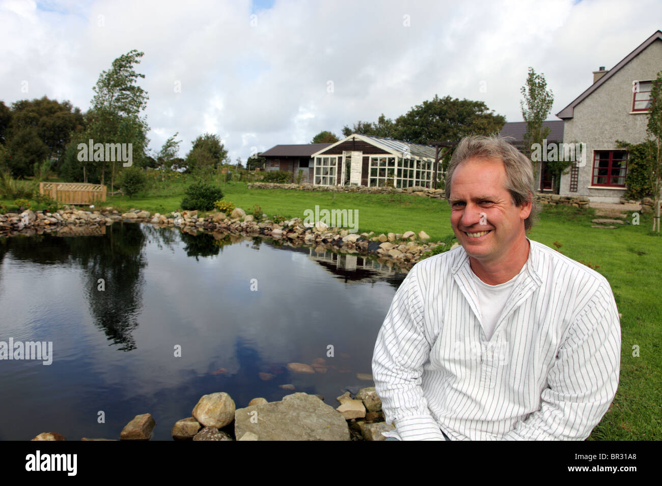 Klaus Laitenberger, Milkwood Farm, Co. Leitrim, Ireland Stock Photo