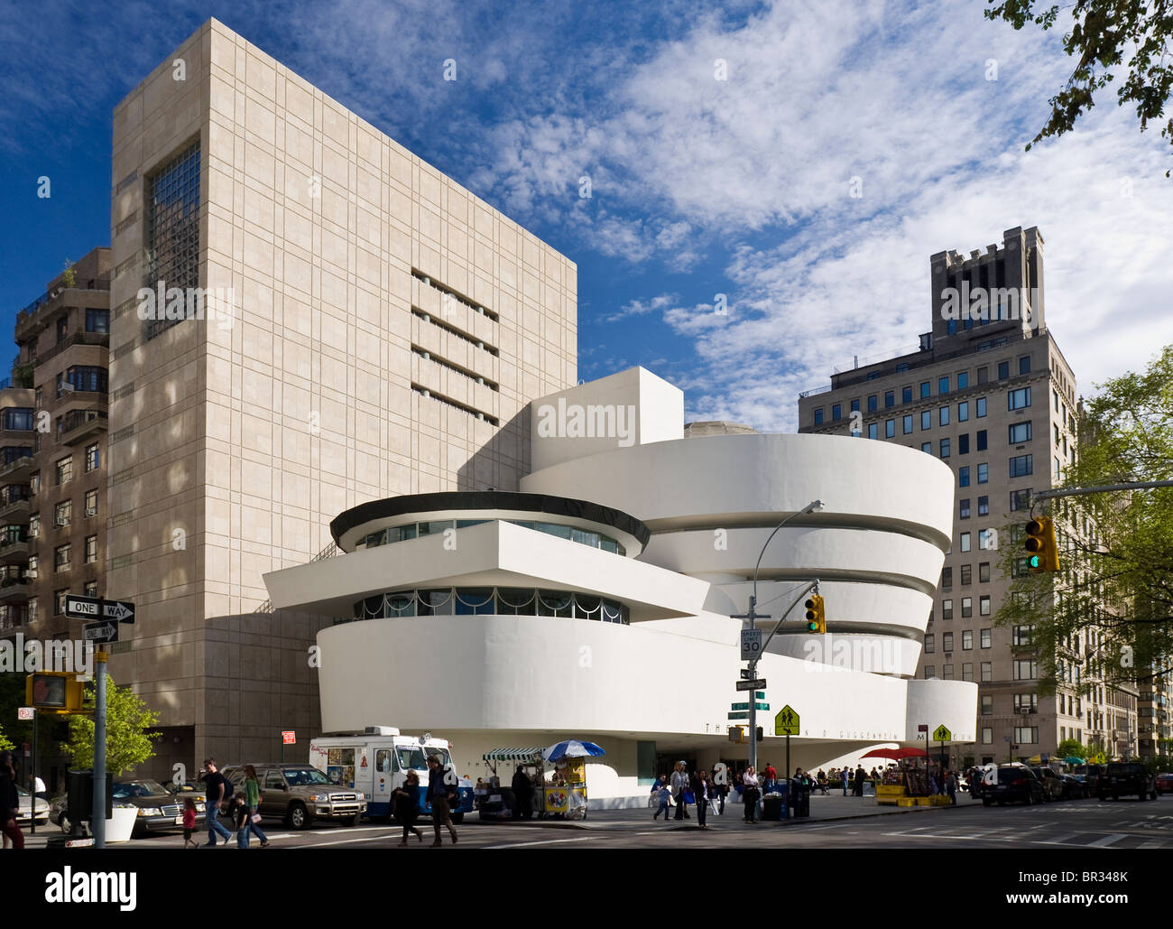The Guggenheim Museum, New York City. Frank Lloyd Wright, Architect. - Stock Image