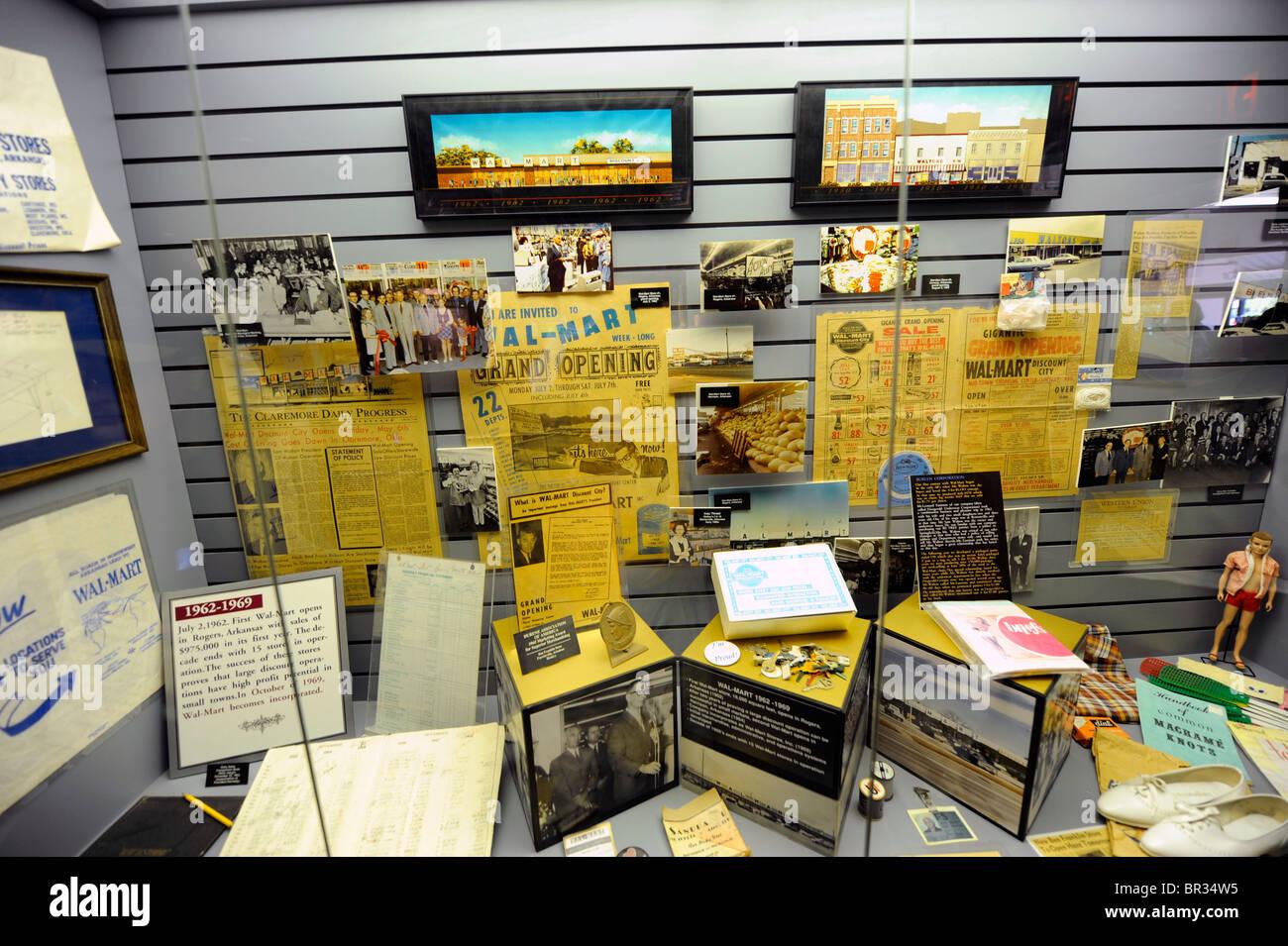 Museum in Wal-Mart Visitors Center Bentonville Arkansas Stock Photo ...
