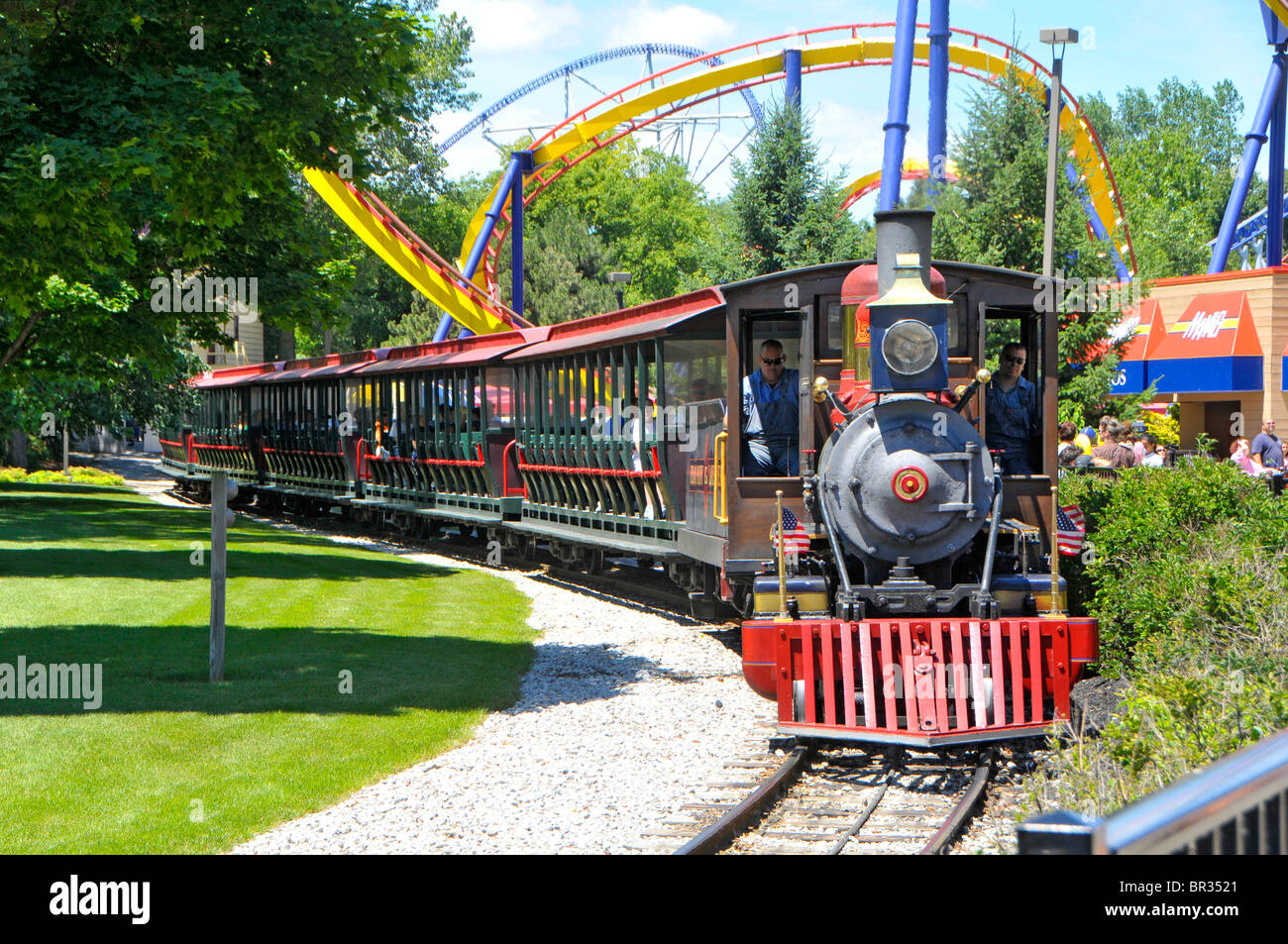 Carnival Floor Plan Train Ride Cedar Point Amusement Park Sandusky Ohio Stock