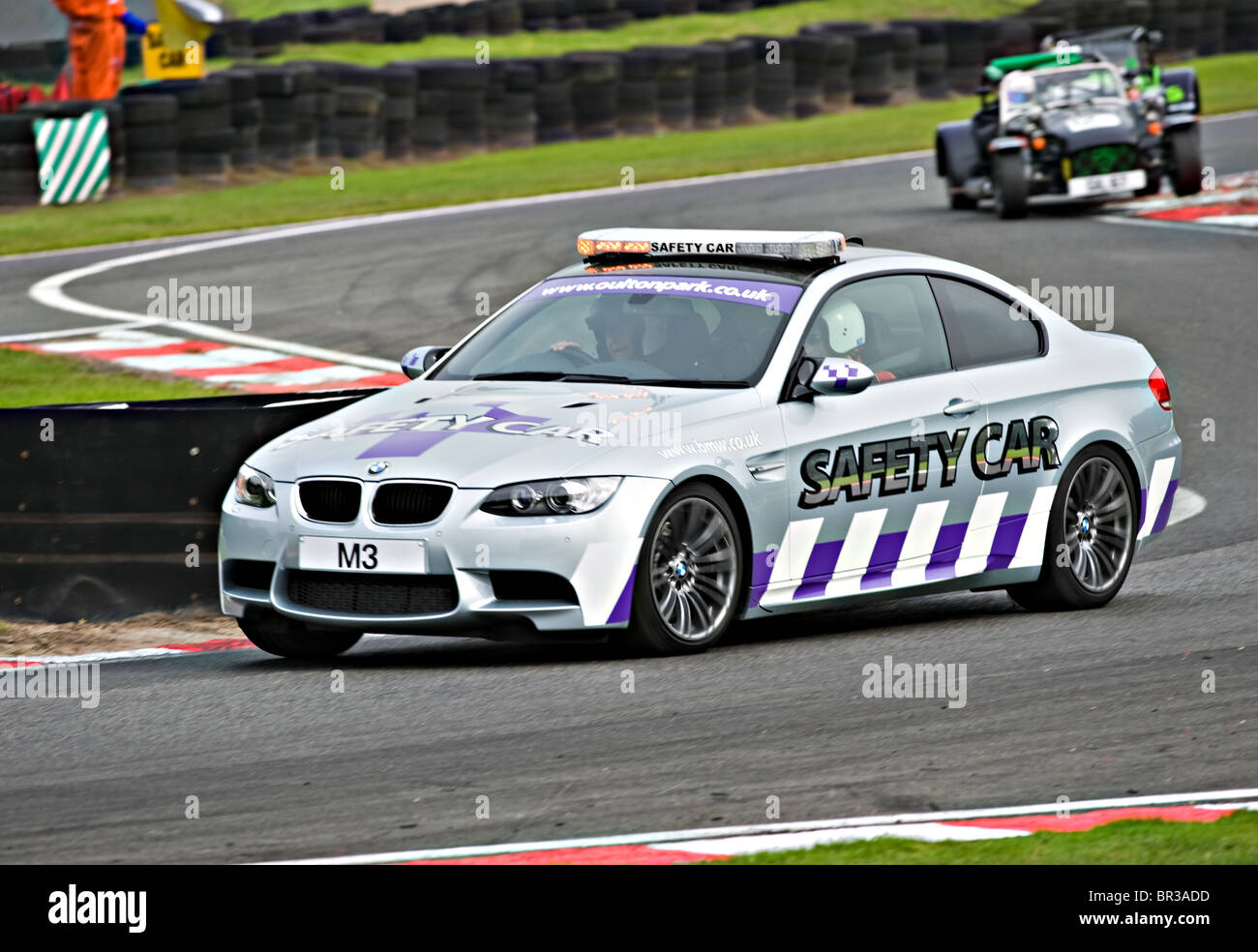Bmw M3 Safety Car Deployed At Oulton Park Motor Racing Circuit With Stock Photo Alamy
