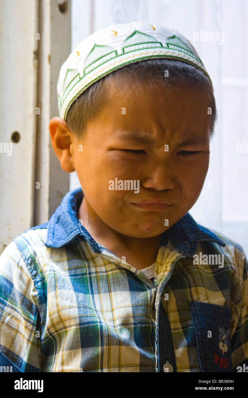Young boy in Nayrn, Kyrgystan - Stock Image