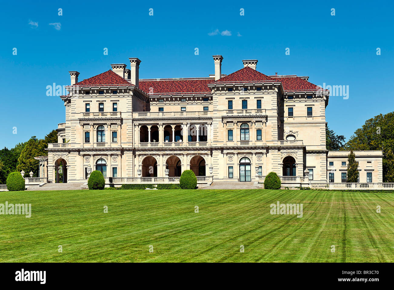 The Breakers mansion, Cliff walk, Newport, Rhode Island, USA - Stock Image