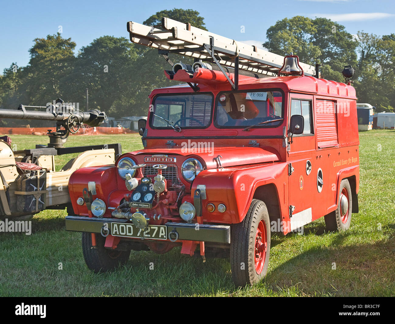 1964 Austin Gipsy Fire Appliance photographed at a rally in North Yorkshire. - Stock Image