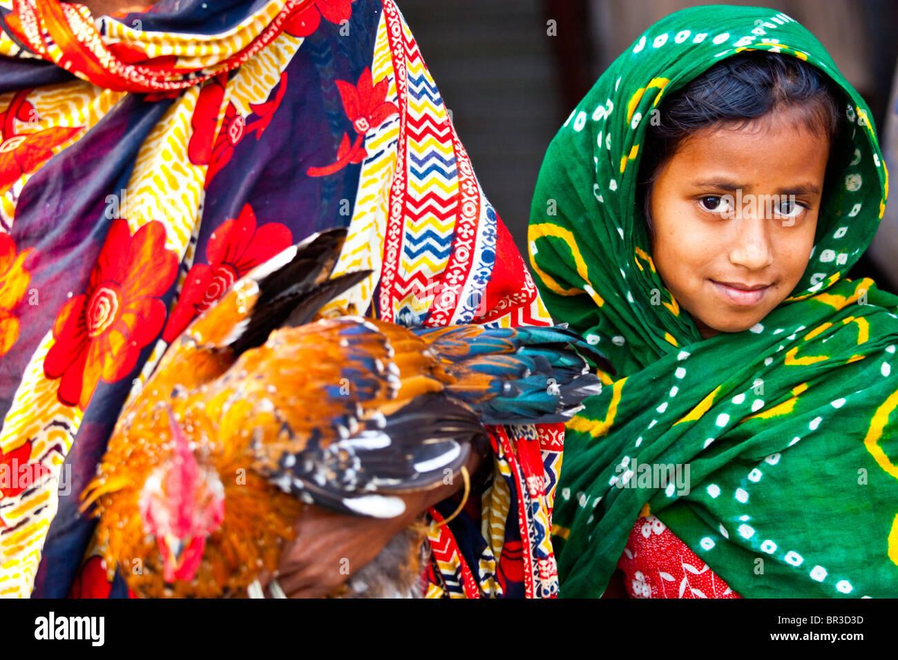 Young Muslim girl in Dhaka, Bangladesh Stock Photo