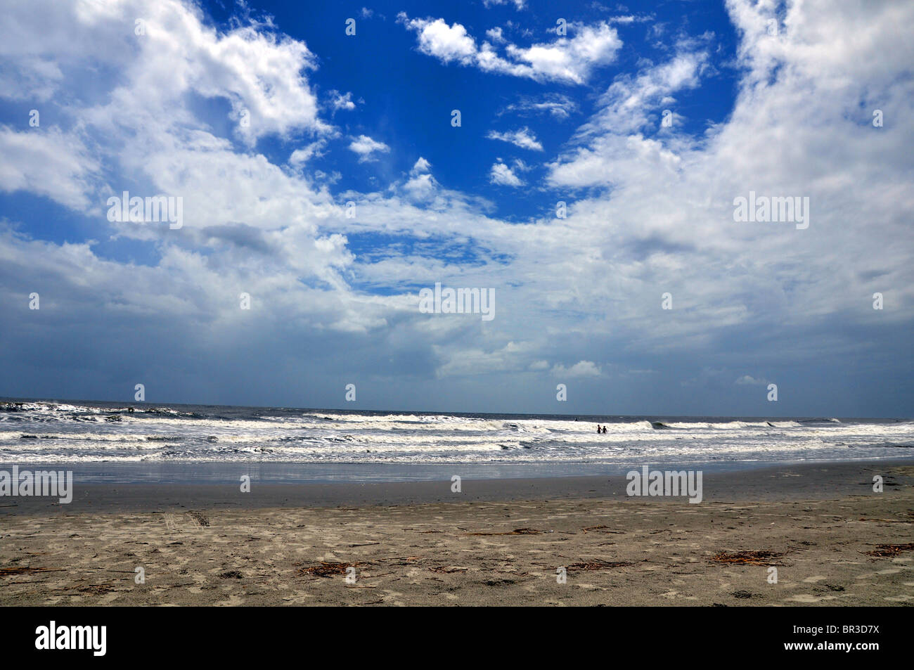 Folly Beach in Charleston South Carolina - Stock Image