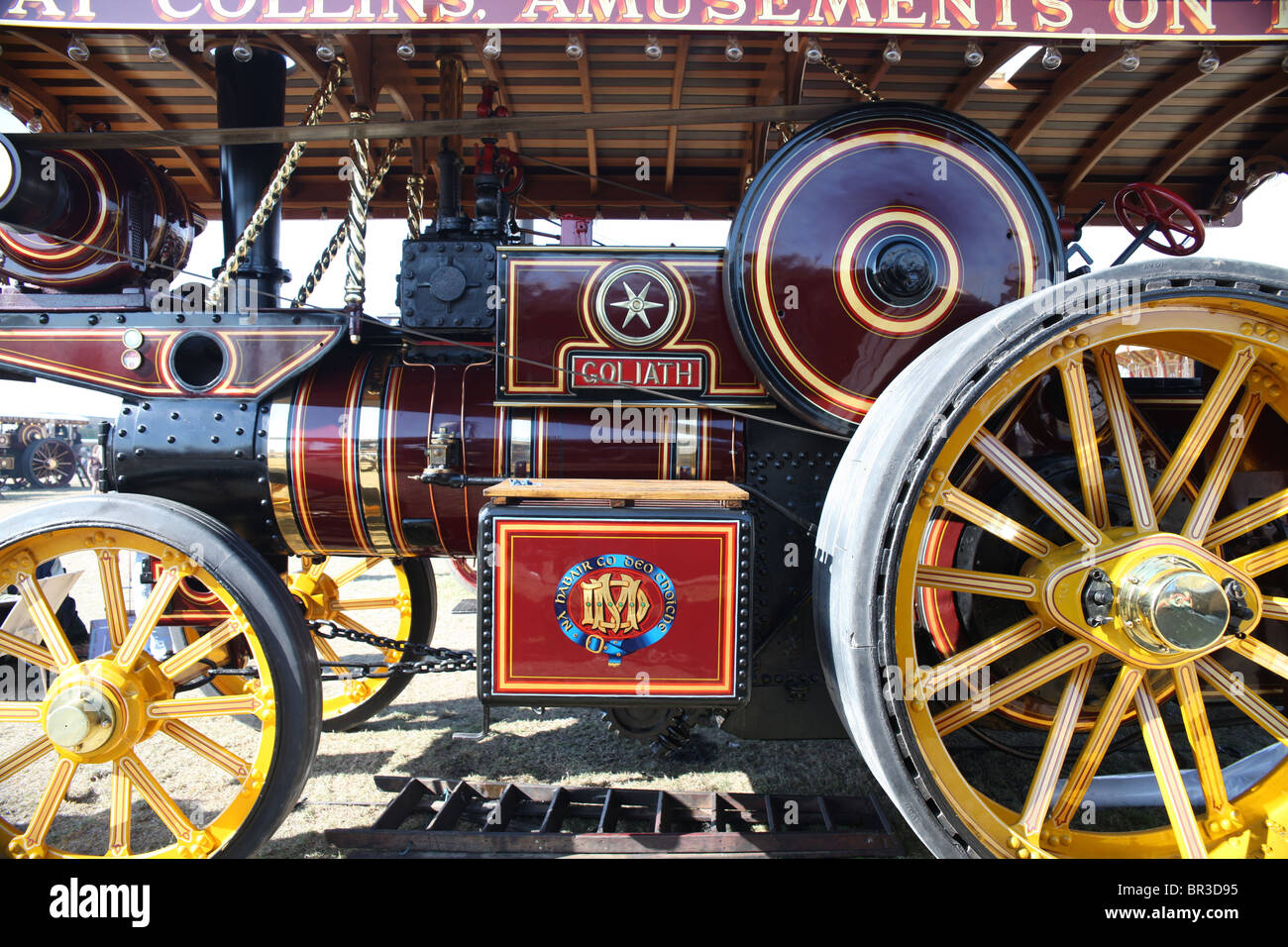 'Goliath' showman's steam engine. - Stock Image