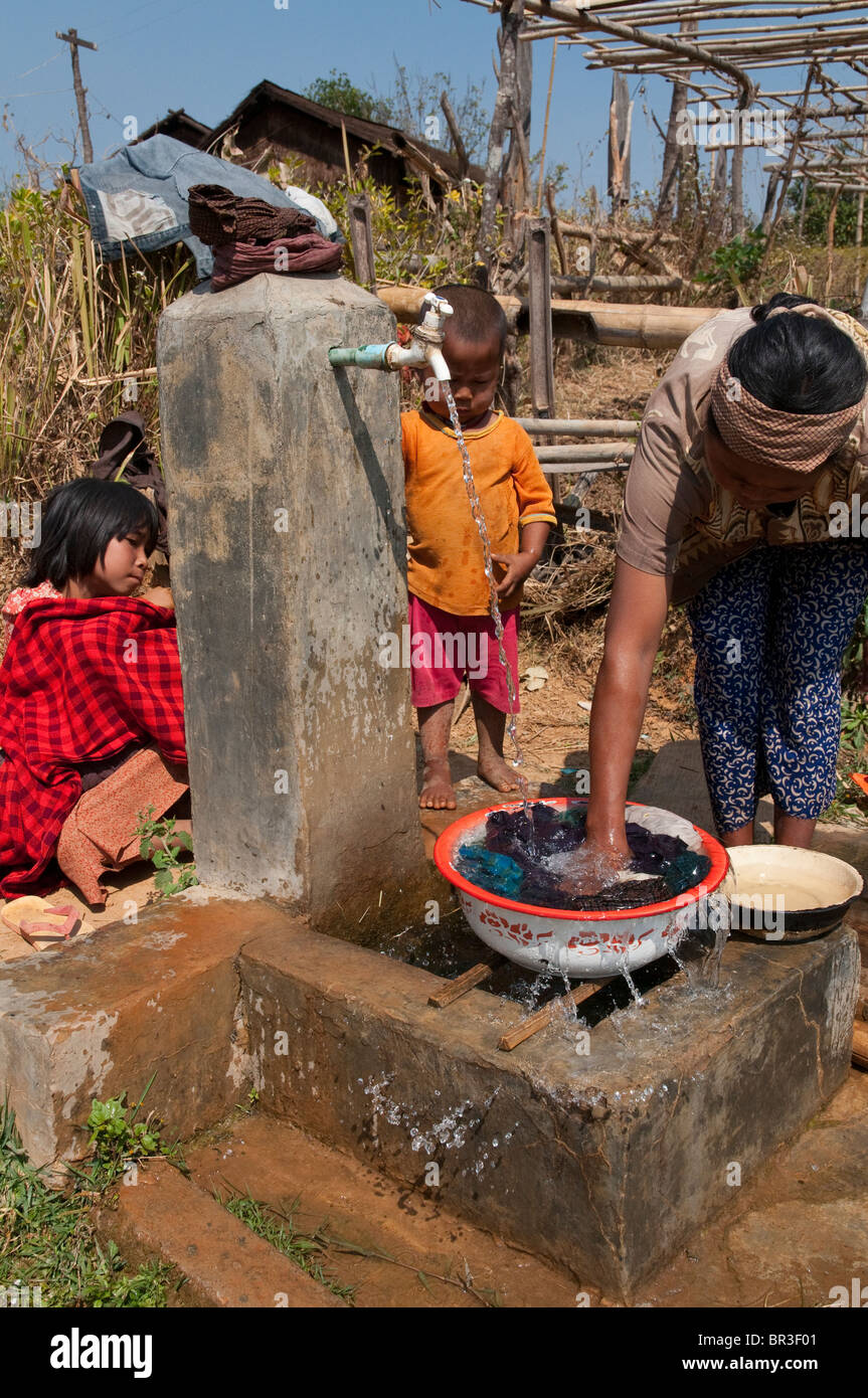 Mynamar. Burma. Shan State. RDS water supply in Village - Stock Image