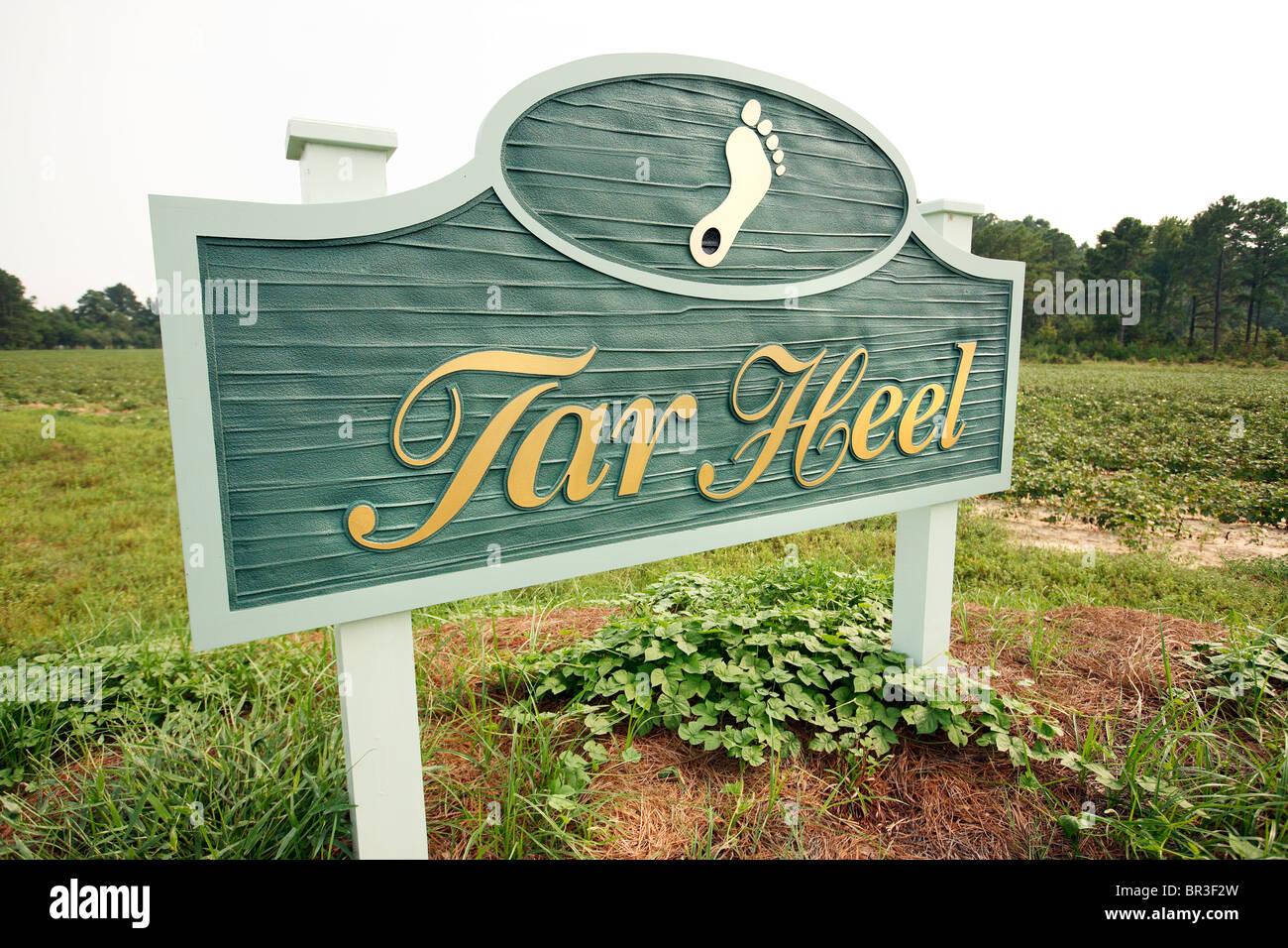 The City of Tar Heel sign Stock Photo