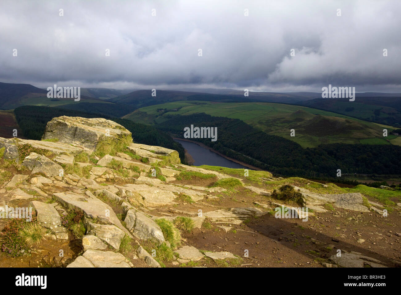 winn hill viewpoint ladybower peak district national park england derbyshire uk gb Stock Photo