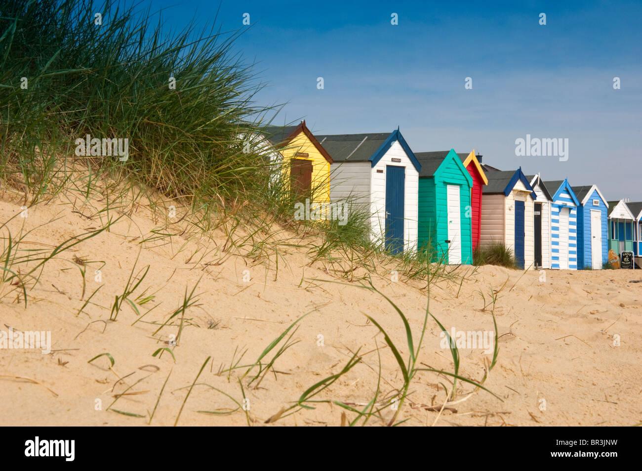 Beach huts, Southwold, England, UK - Stock Image