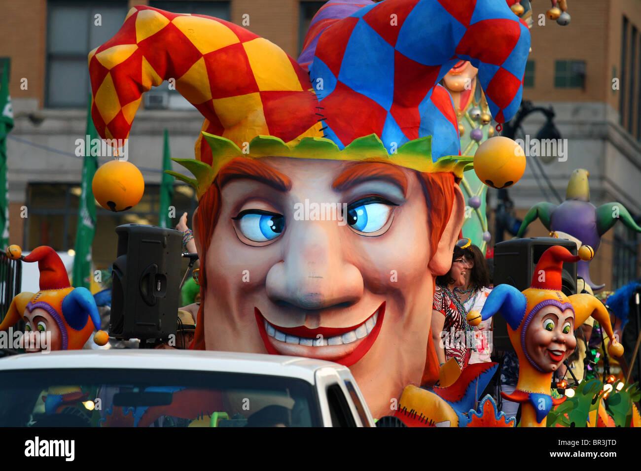 Montreal International jazz festival Mardi Gras Parade - Stock Image