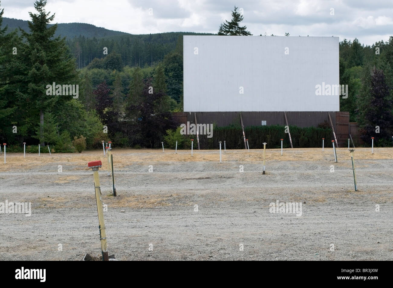 Old Fashioned Outdoor Drive In Movie Theater In Shelton Washington Stock Photo Alamy