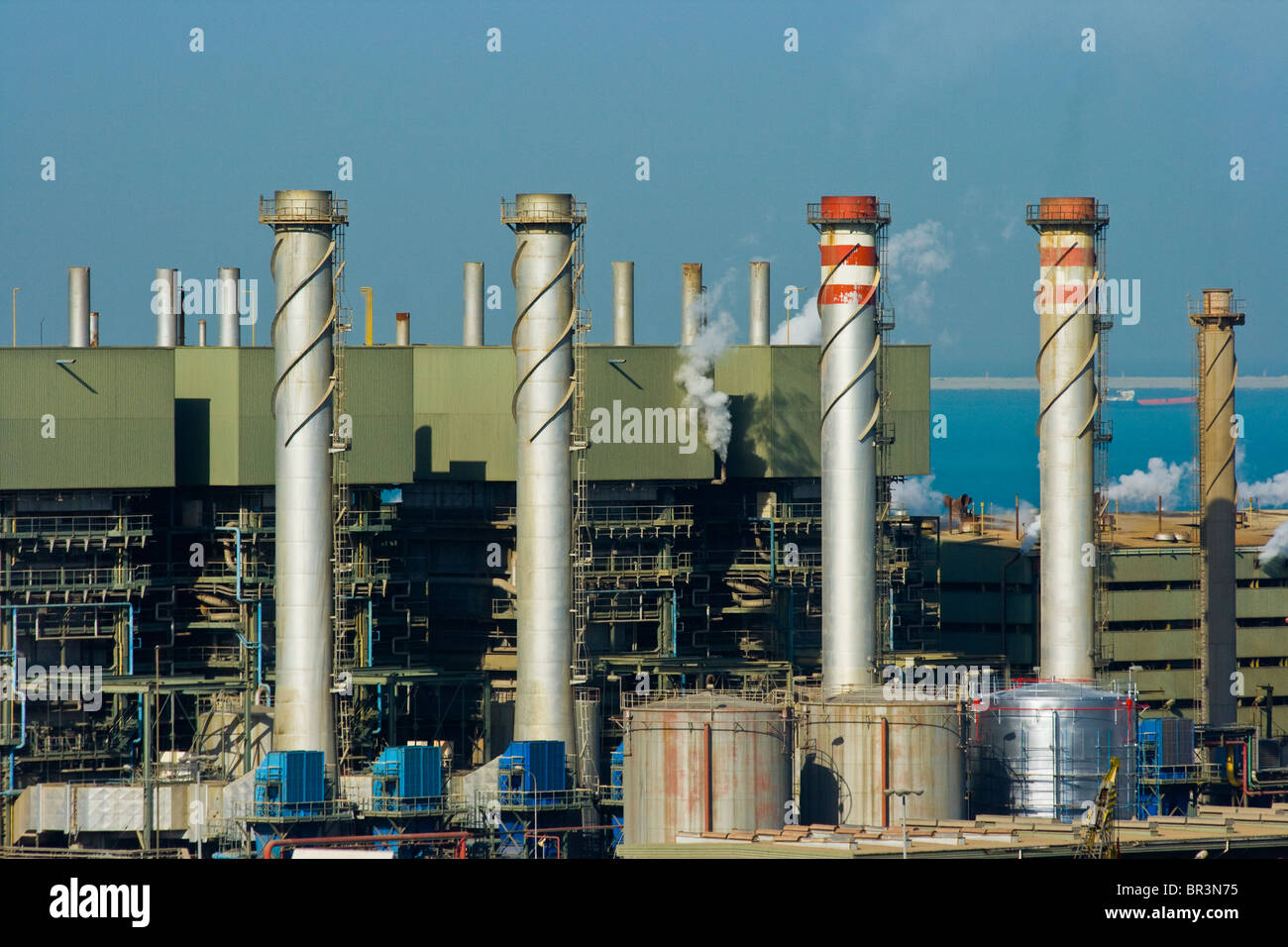 Water Desalination Plant in Sharjah, UAE Stock Photo