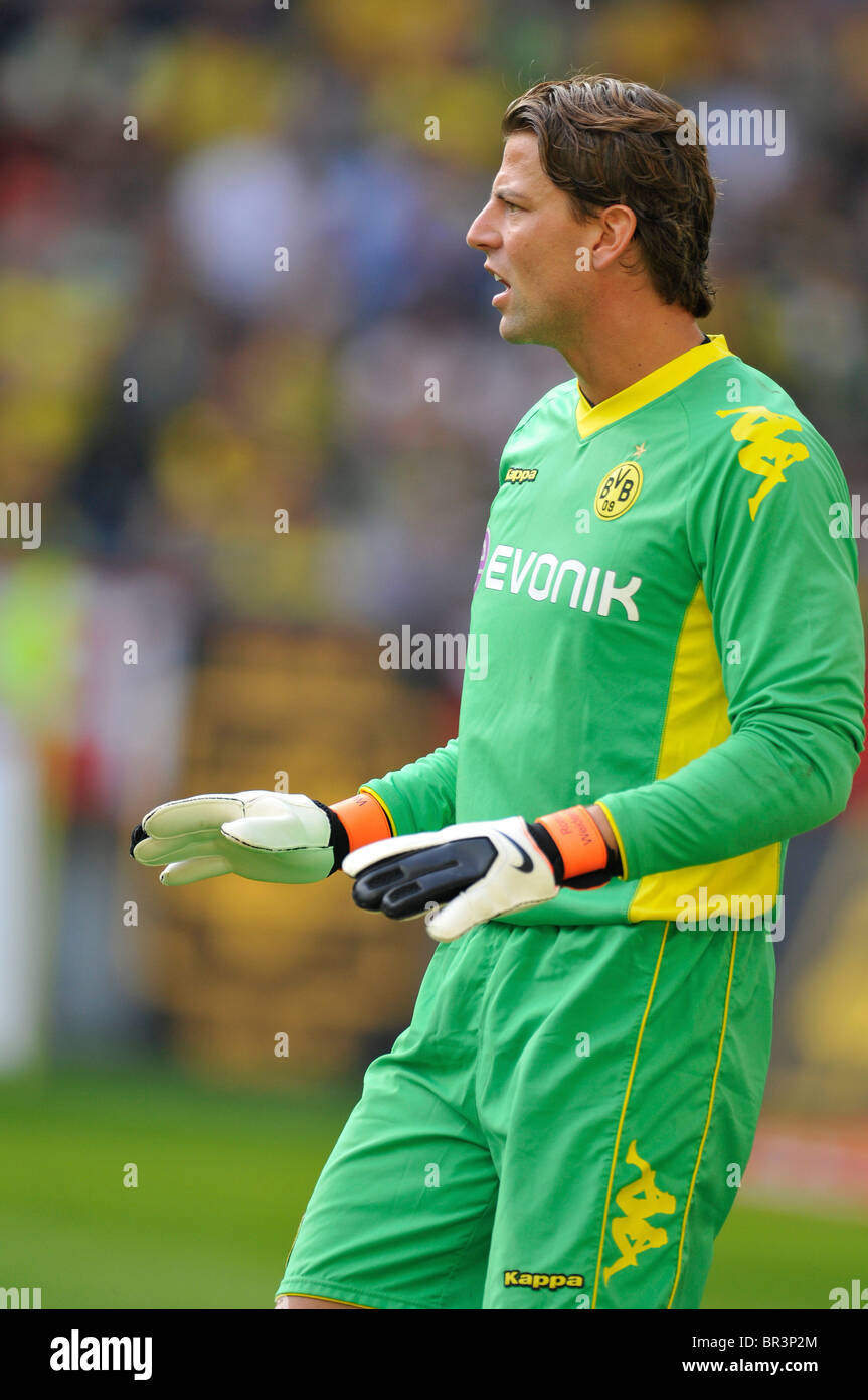 goalkeeper Roman WEIDENFELLER, Borussia Dortmund,   german Bundesliga match Borussia Dortmund vs VfL Wolfsburg Stock Photo