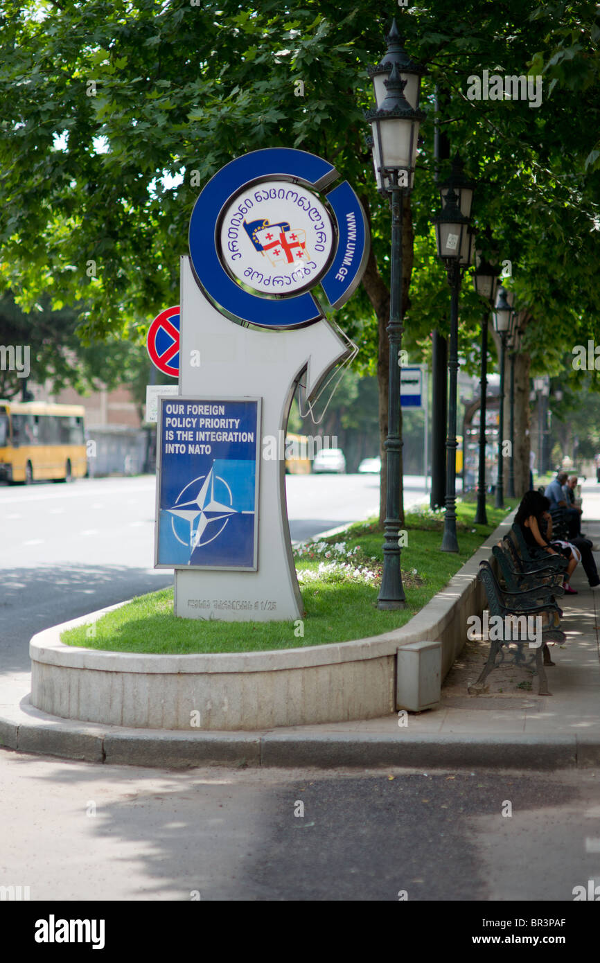 NATO Tbilisi Georgian politics - Stock Image