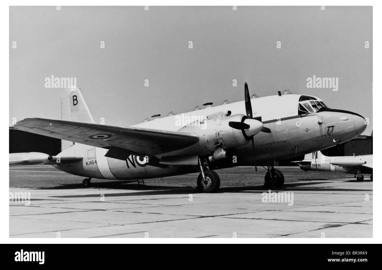 Old Photograph of WJ484 Vickers Valetta De-mobbed Aircraft Aeroplane at Airport - Stock Image