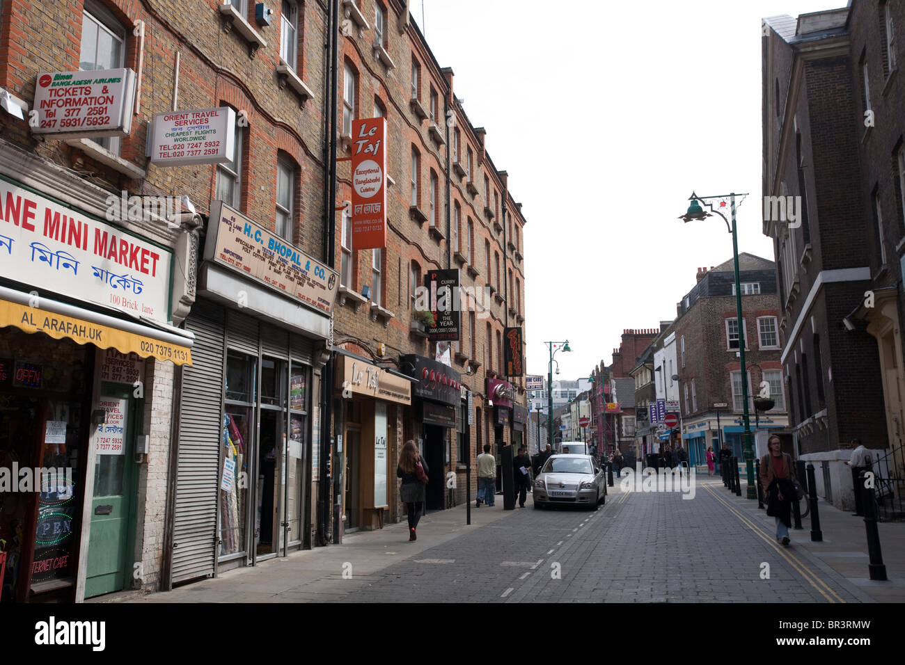 Brick Lane East End London Bangladesh Indian Cuisine Banglatown. Photo:Jeff Gilbert - Stock Image