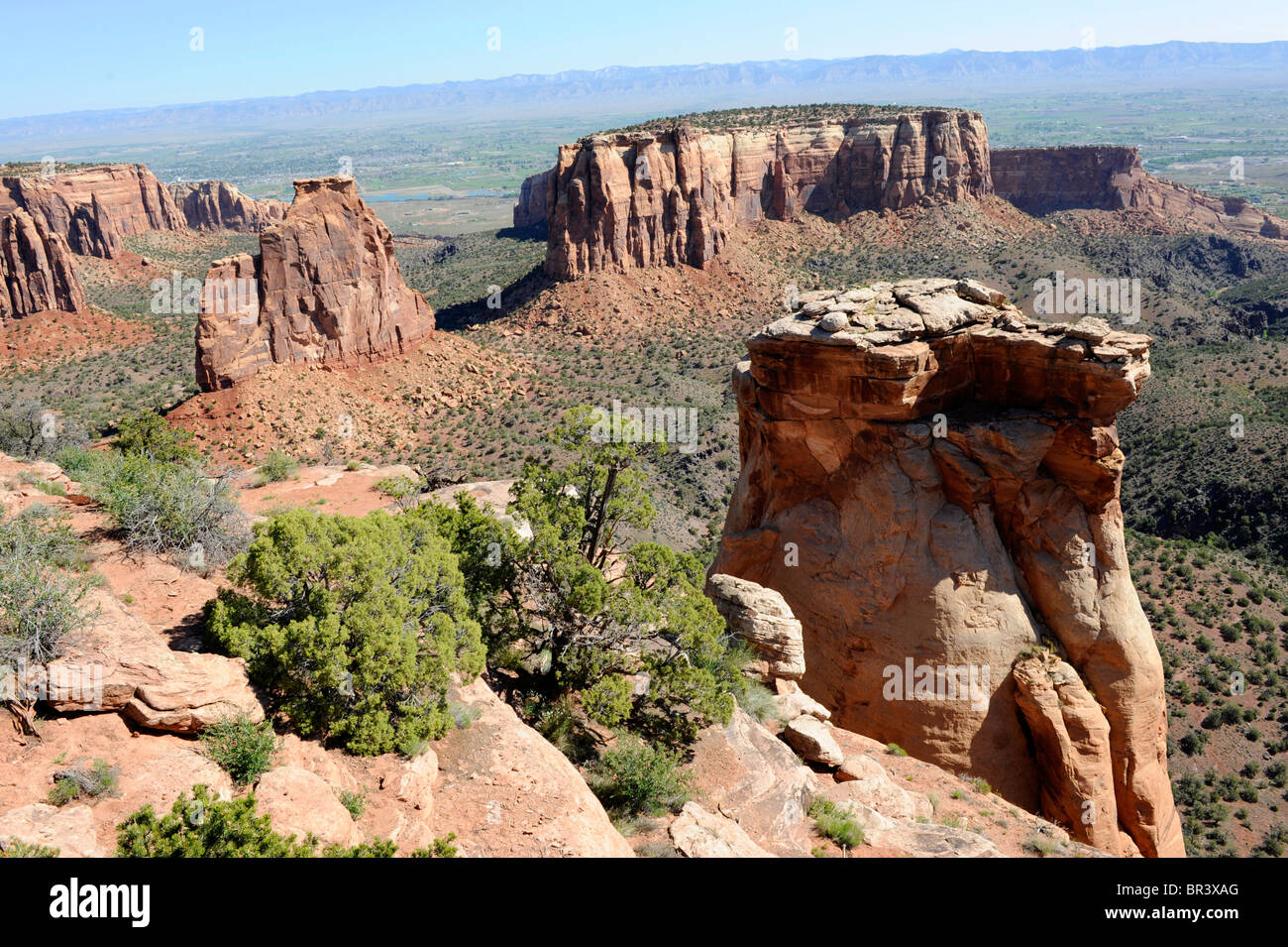 View of Balanced Rock Grandview Point Colorado National Monument Grand Junction  - Stock Image