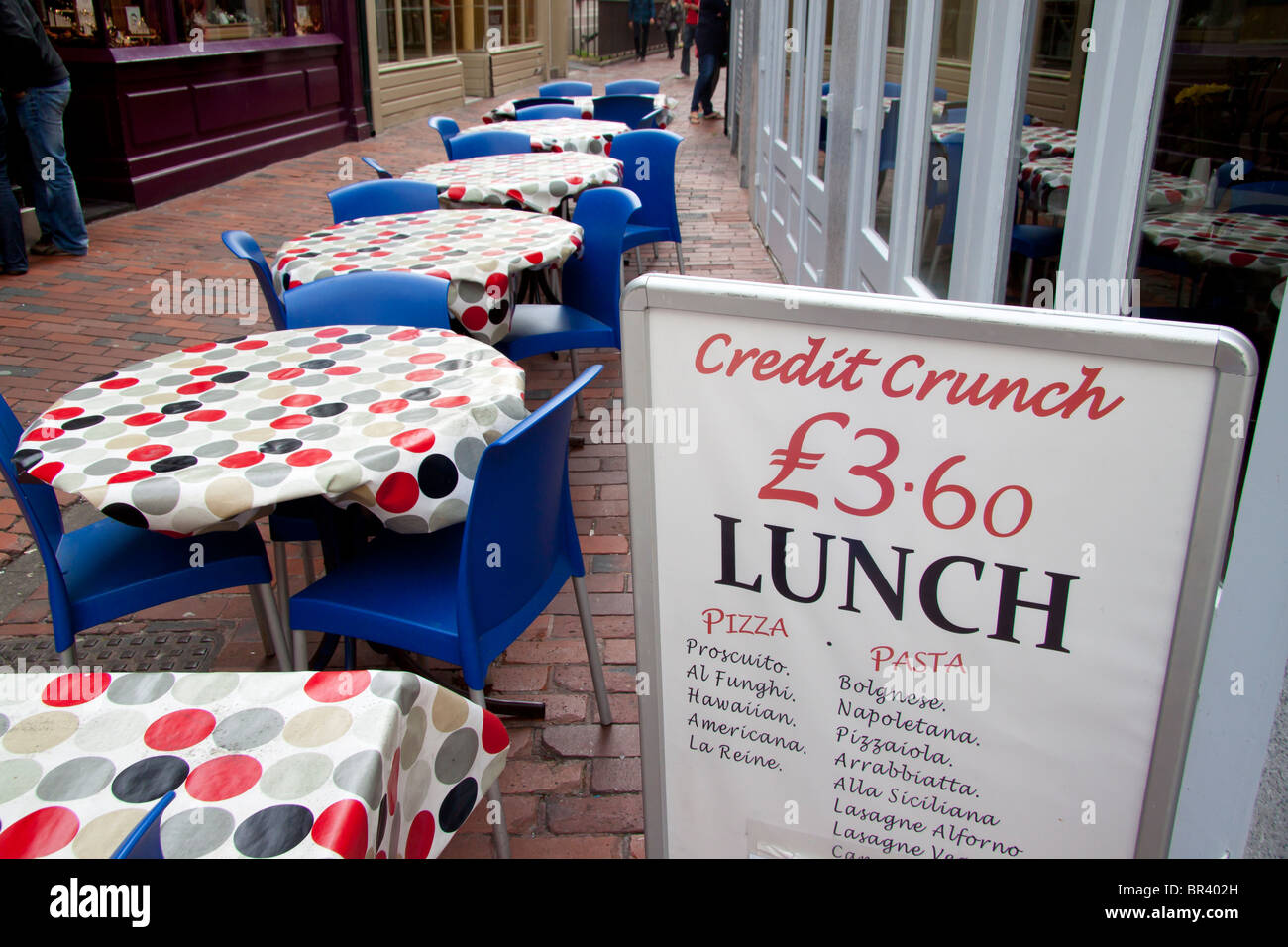 2010 - references to the Credit Crunch are still to be seen in The Lanes, Brighton - Stock Image
