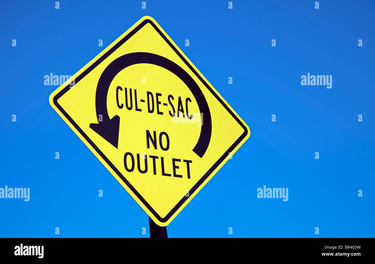 Cul-de-sac - road sign - Stock Image