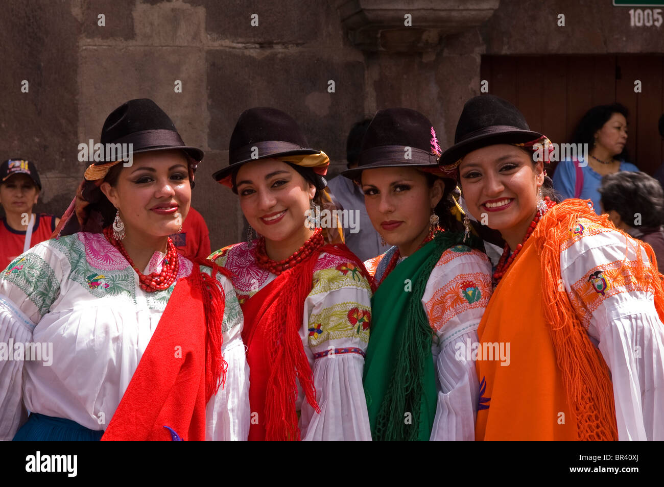 Ladies wearing traditional costume in Quito Ecuador  sc 1 st  Alamy & Ladies wearing traditional costume in Quito Ecuador Stock Photo ...