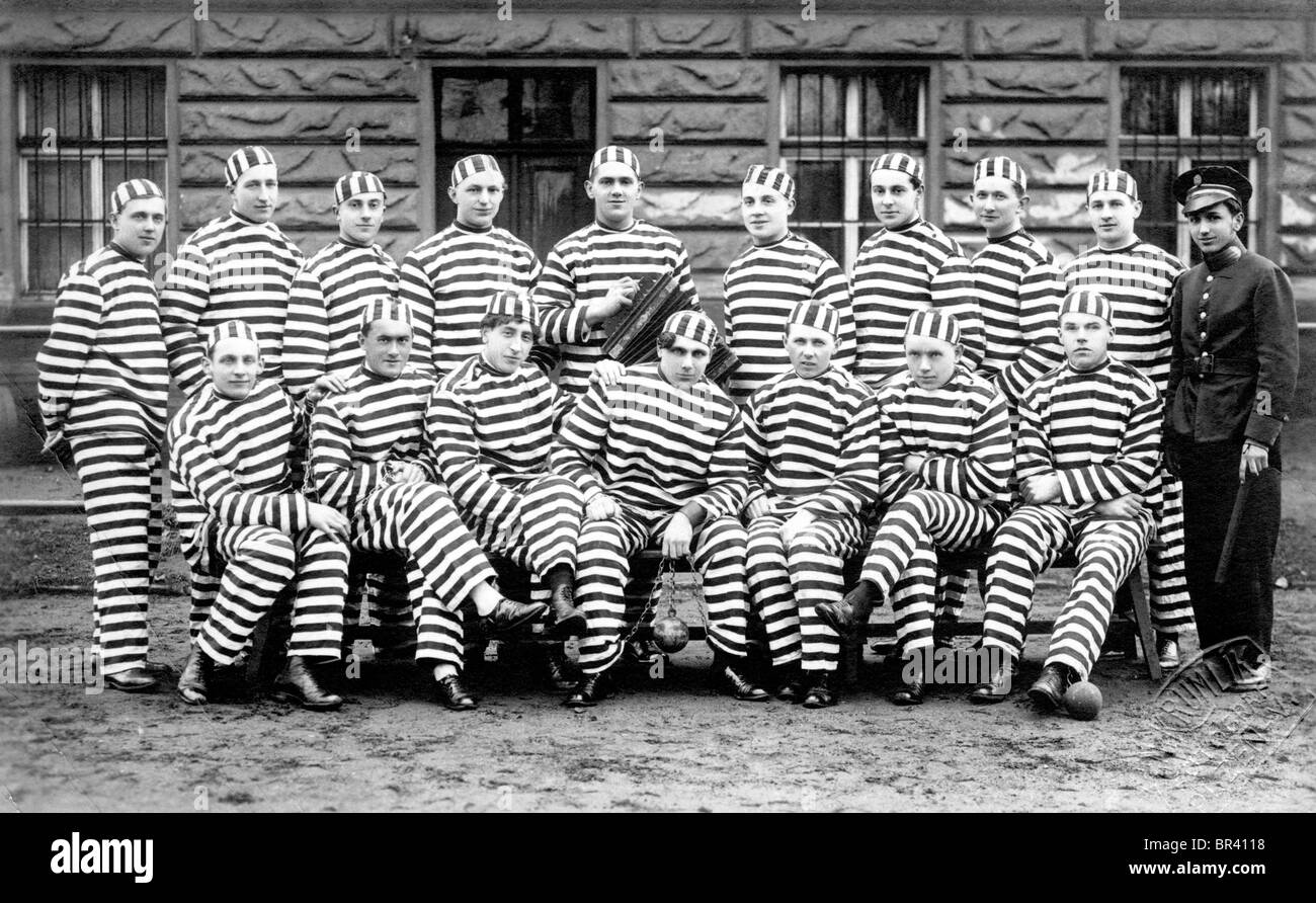 Historical image, prisoners, ca. 1917 - Stock Image