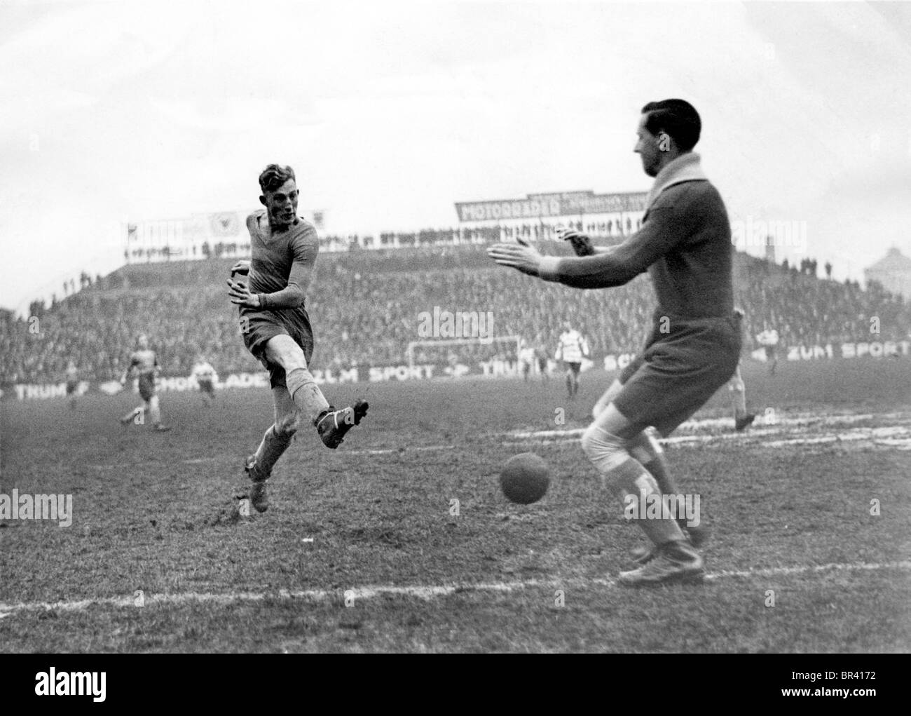 Historical image, football, ca. 1925 - Stock Image