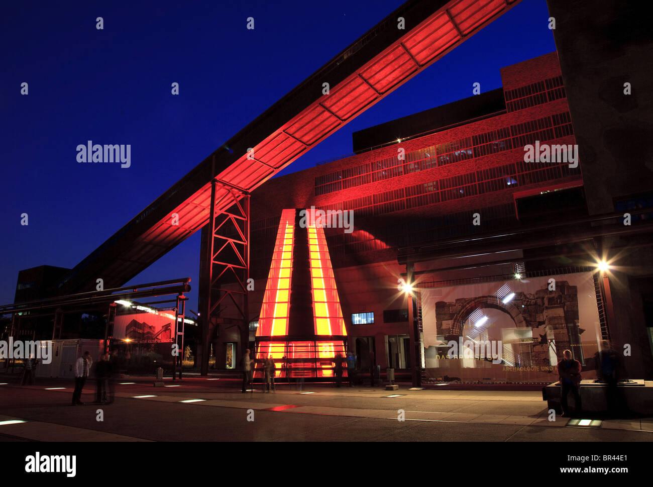 Schachtzeichen, Zeche Zollverein, Essen, Ruhr, North Rhine-Westphalia, Germany, Europe Stock Photo