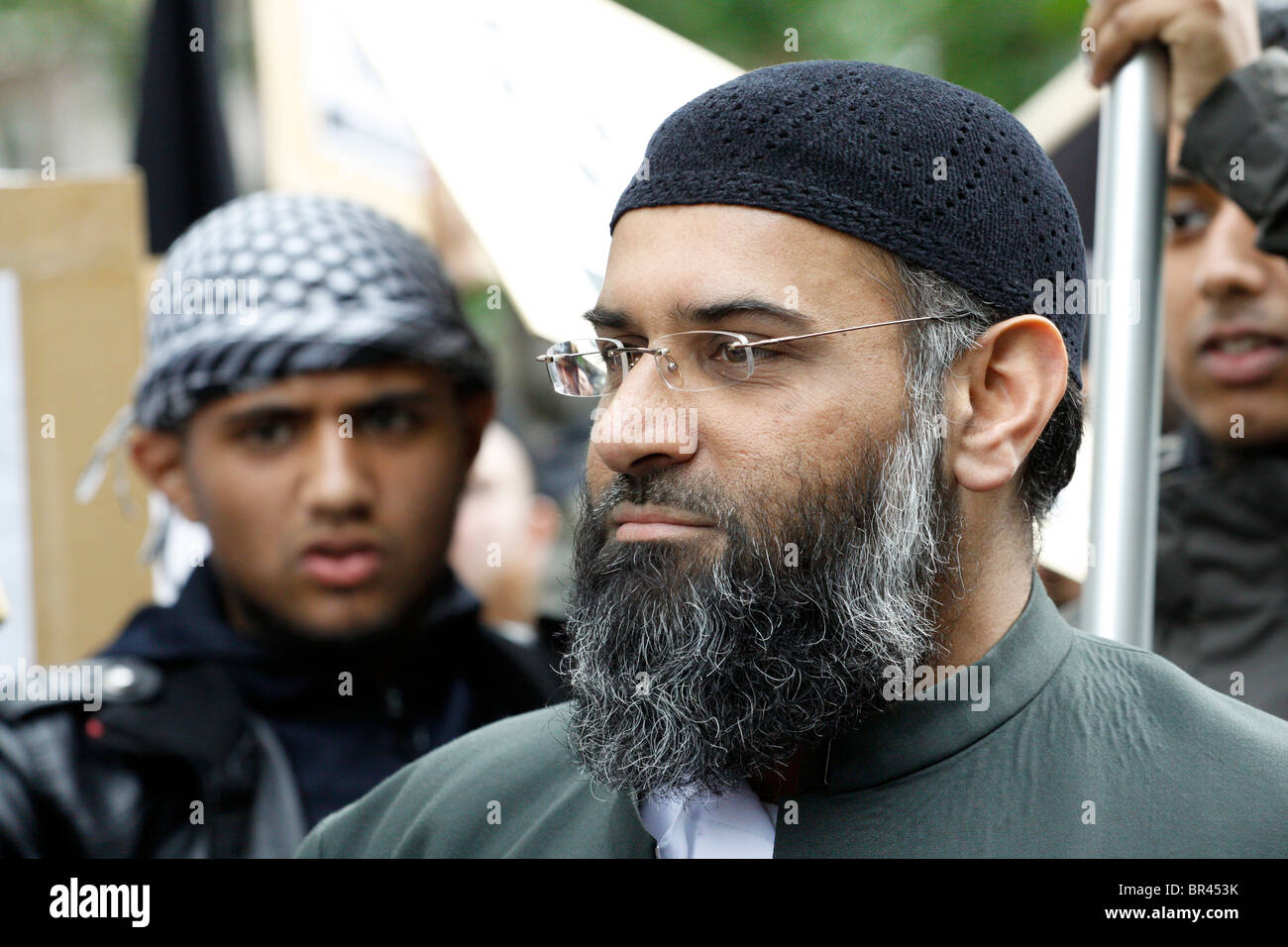 Anjem Choudary of the Muslims Against Crusades (MAC) group formerly of Islam4UK, September 11th 2010 - Stock Image