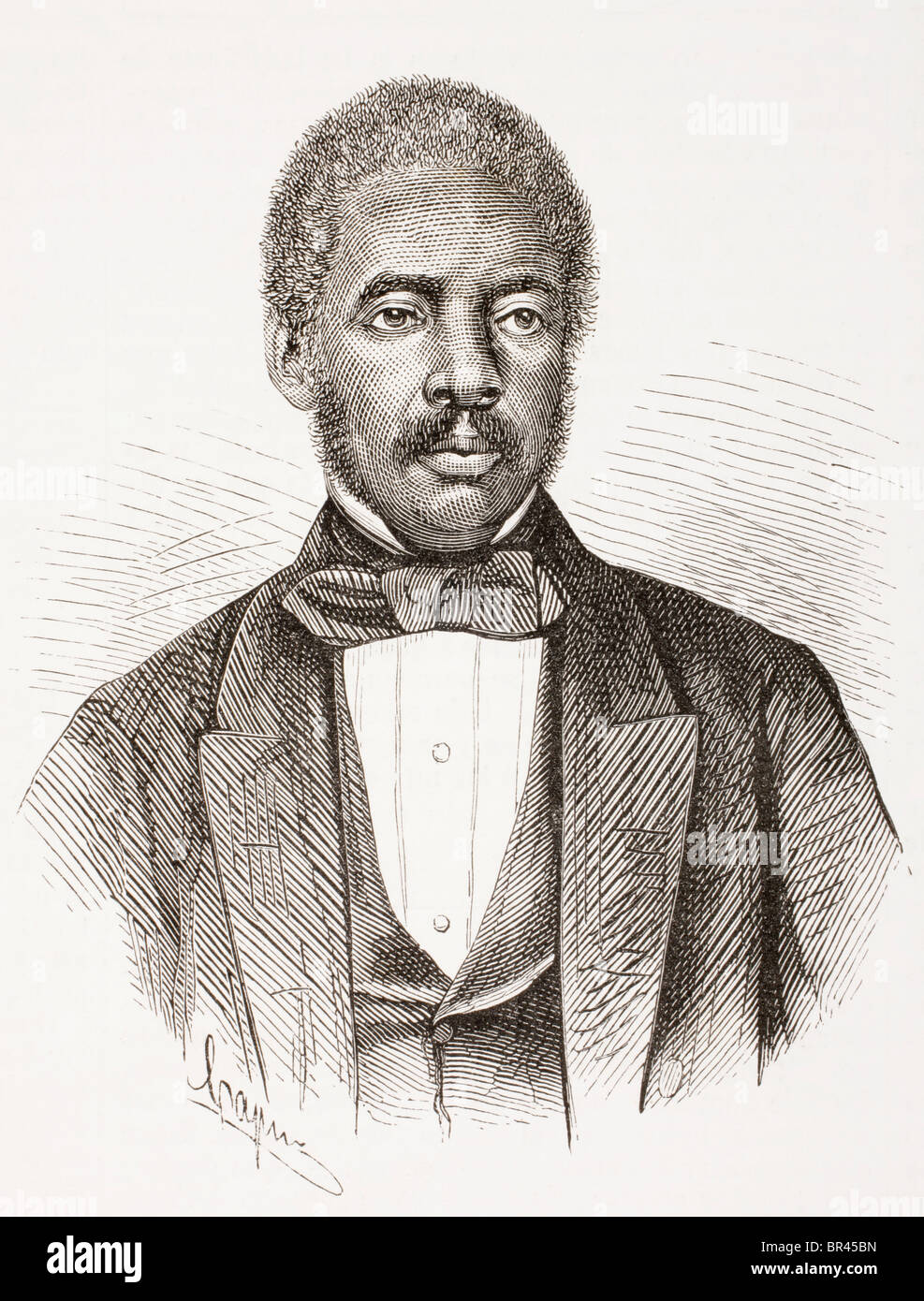 Stephen Allen Benson, 1816 – 1865. Second President of Liberia from 1856 to 1864. - Stock Image