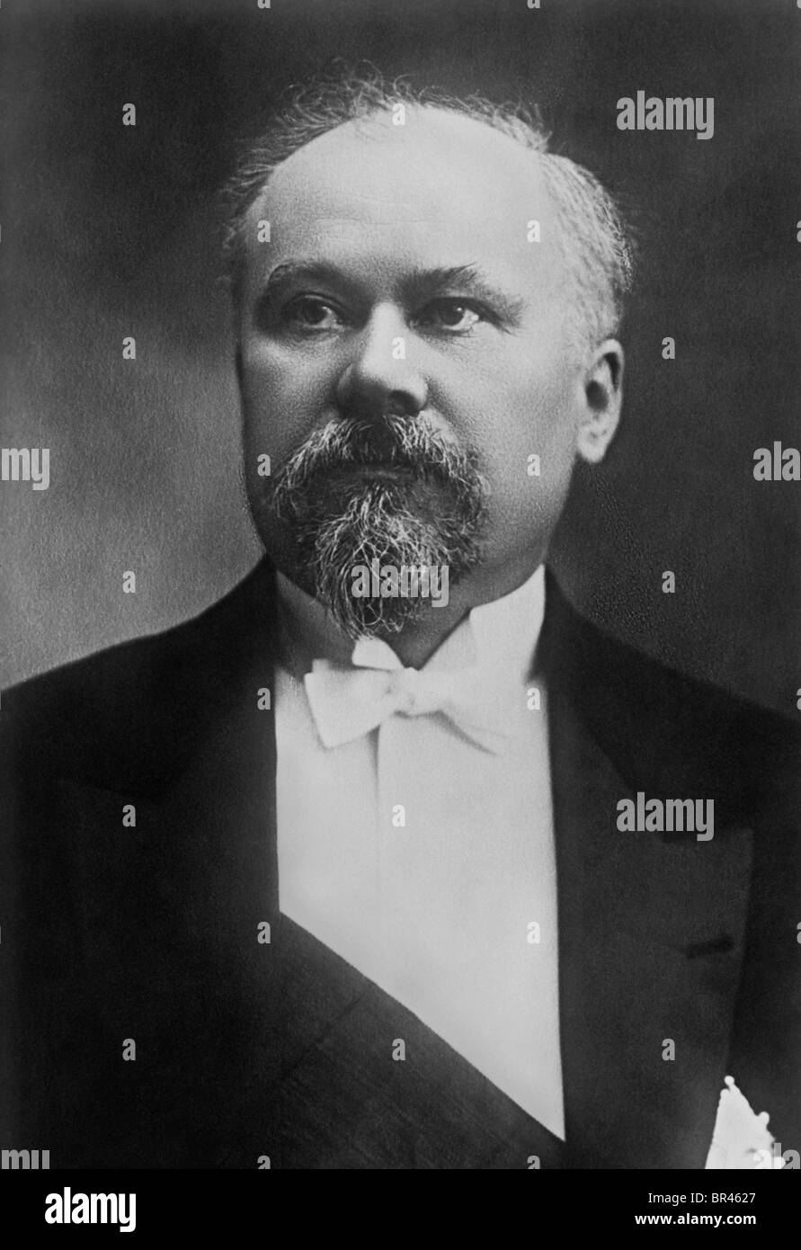 Raymond Poincaré (1860 - 1934) - French Prime Minister 1912 - 1913, 1922 - 1924 + 1926 - 1929, and French President - Stock Image