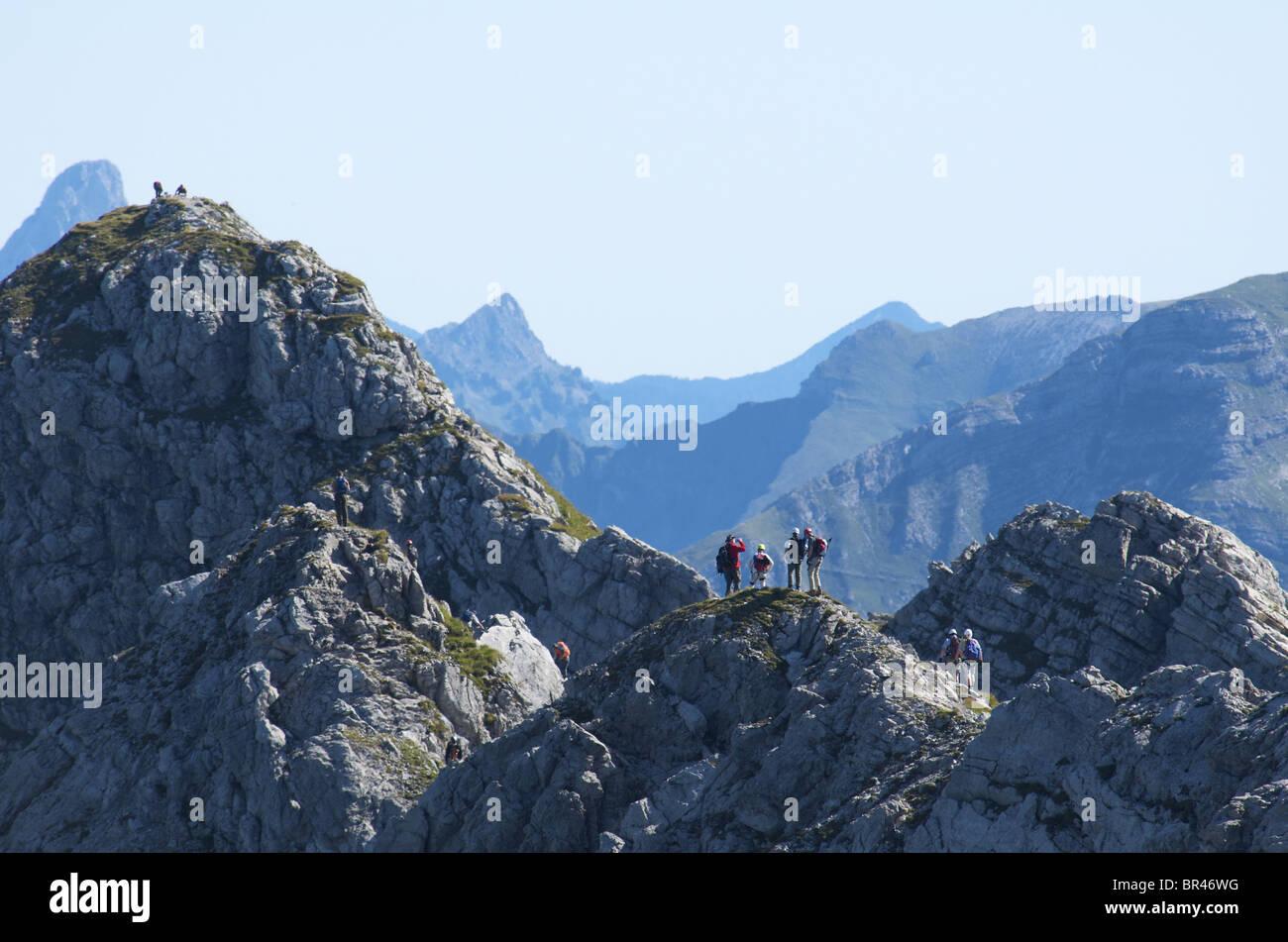 Klettersteig Bavaria : Hindelanger klettersteig nebelhorn allgaeu alps bavaria