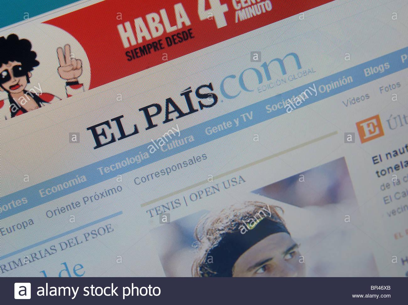 El Pais Spanish newspaper website Stock Photo: 31440707 - Alamy