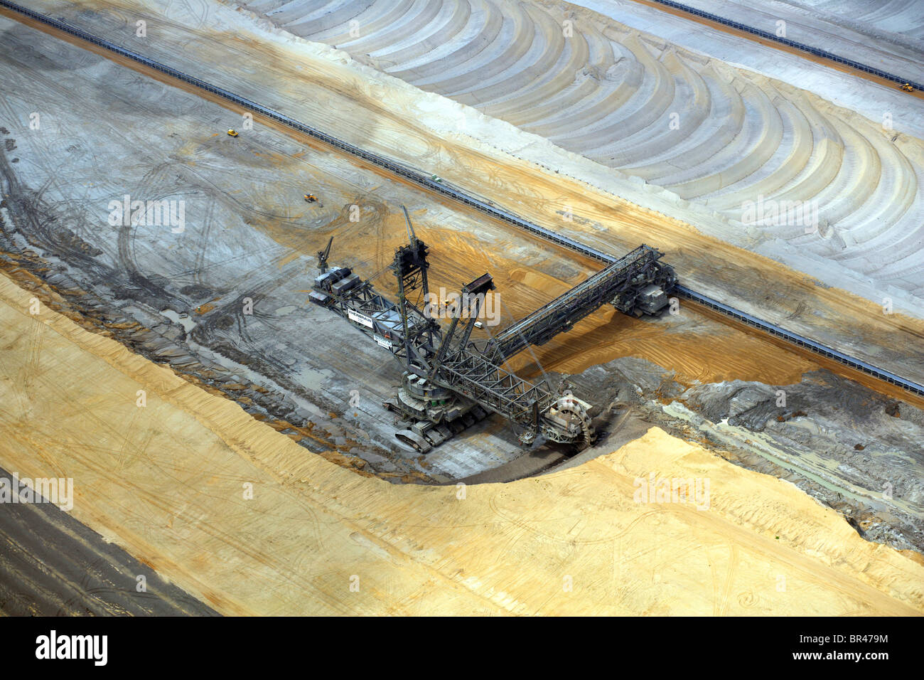 bucket-wheel excavator at brown coal surface mining, Germany, North Rhine-Westphalia, Hambach Stock Photo