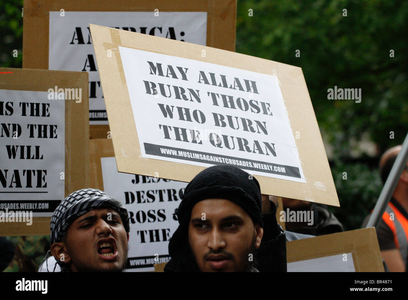 Muslims Against Crusades (MAC) group, September 11th 2010 - Stock Image
