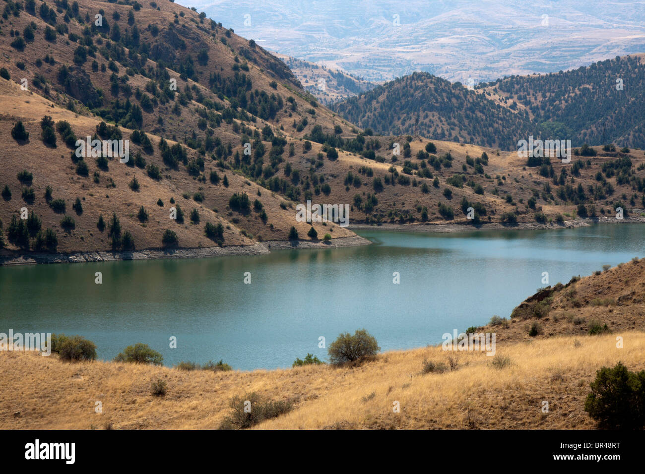 Lake in mountains of Armenia - Stock Image