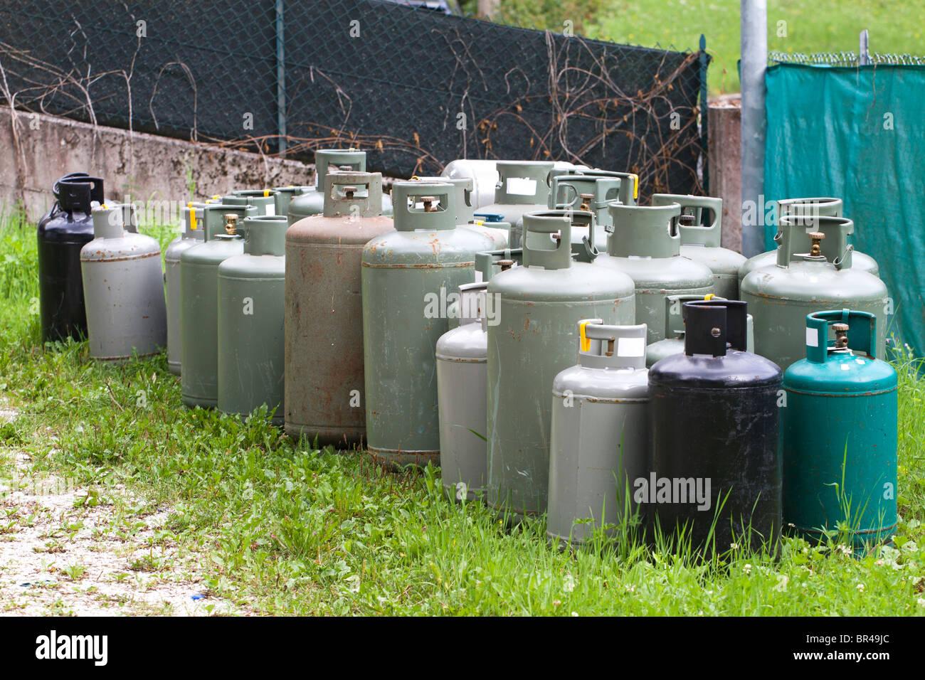 Gas cylinder - Stock Image