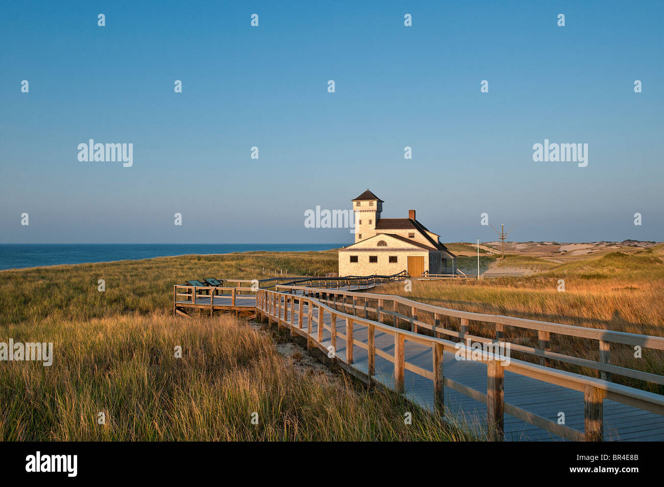 Old harbor life saving museum, Race Point, Provincetown, Cape Cod, MA, - Stock Image
