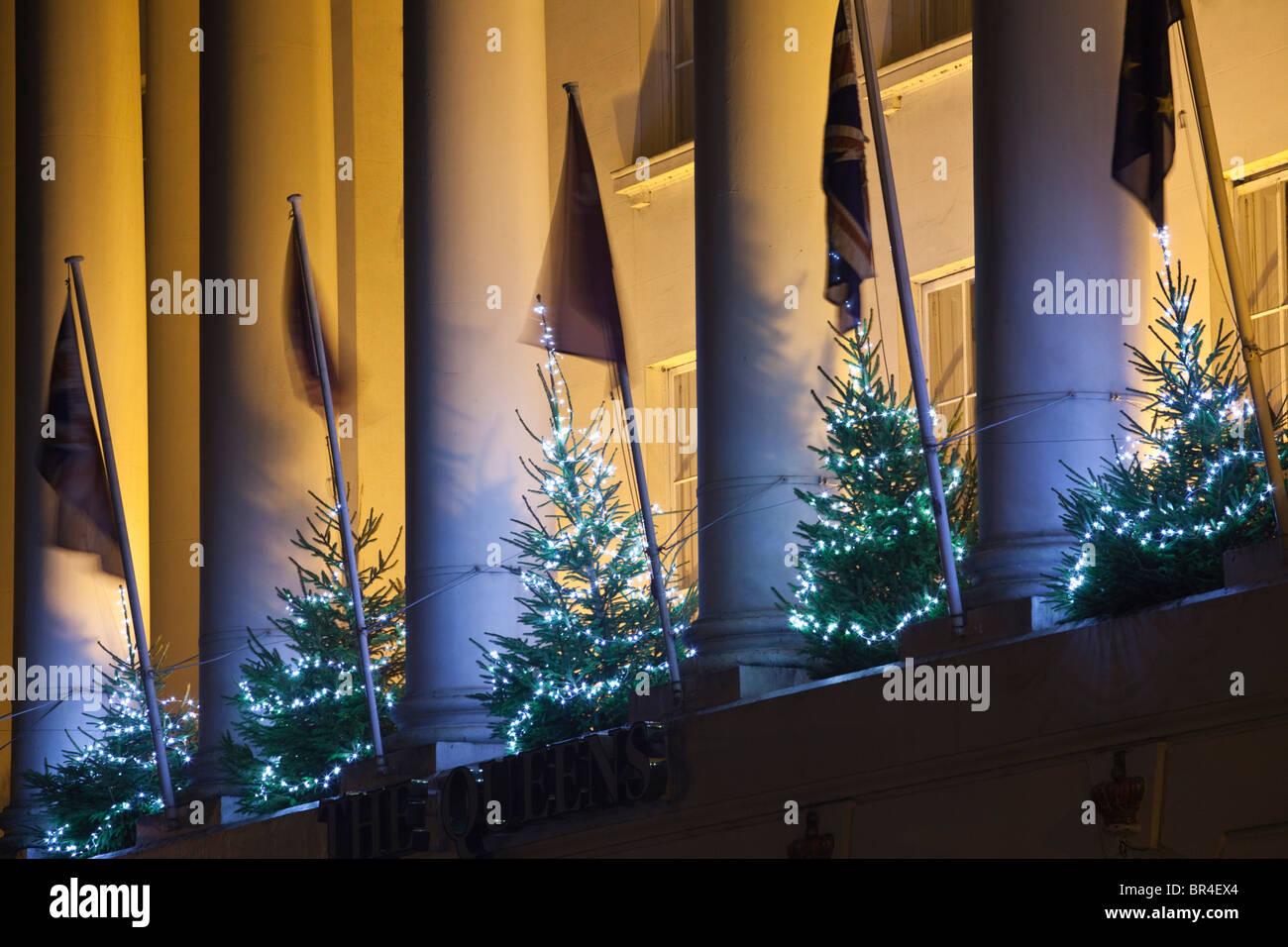 Christmas Lights, Cheltenham, Gloucestershire, UK - Stock Image